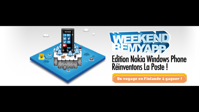 "EVENT ""Be My App"" - Week-end Nokia Windows Phone avec La Poste"