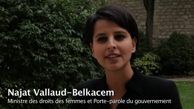 Intervention de la ministre Najat Belkacem